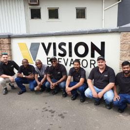 Vision Elevators at work (Worker Month)